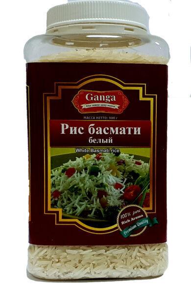 """Рис Басмати Белый  """"Ganga Foods"""" Банка 1000 мл."""