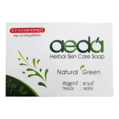 Мыло Аеда Туласи & Ним, 75 г, производитель К.П. Намбудирис; Aeda Herbal Skin Care Soap Natural Green Thulsi & Neem, 75 g, K.P. Namboodiri's