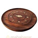 Подставка для благовоний деревяный круг, 10 см, производитель махабазар.клаб; Stand for incense round wood, 10 cm, MAHAbazar.club