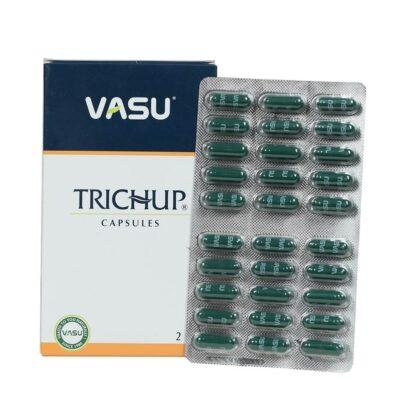 Травяные капсулы для роста волос Тричуп, 60 кап, производитель Васу; Trichup Capsules Hair Nourishment, 60 caps, Vasu