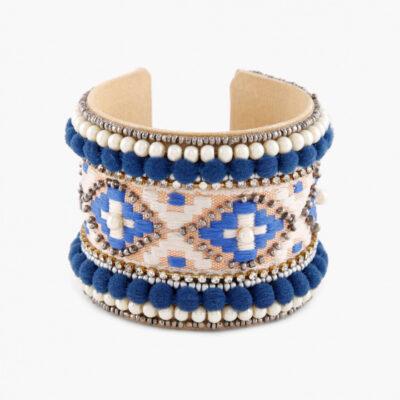 Фактурный браслет-манжета из бисера, Handmade, произв