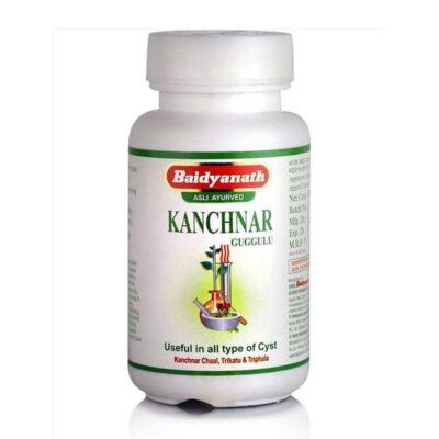Канчнар Гуггул, очищение лимфатической системы, 80 таб, производитель Байдьянатх; Kanchnar Guggulu, 80 tabs, Baidyanath