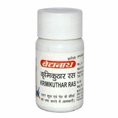 Кримикутхар Рас, антипаразитарное средство, 80 таб, производитель Байдьянатх; Krimikuthar Ras, 80 tabs, Baidyanath