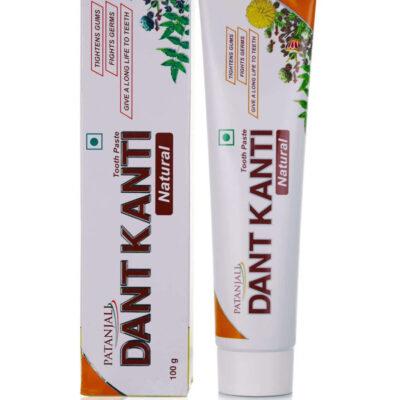 Аюрведическая зубная паста Дент Канти Натурал, 100 г, Патанджали; Dant Kanti Natural Tooth Paste, 100 g, Patanjali