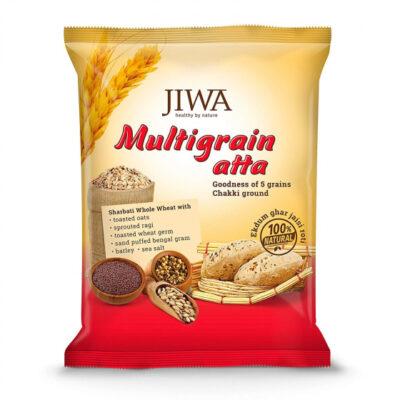 Мука пшеничная мультизерновая (1 кг), Multigrain Atta, произв. Jiwa Healthy by Nature