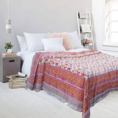 Покрывало, Bedcover Multicokor Floral Pattern, Handmade, произв.