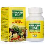 Спирулина Плюс, источник витаминов, 60 кап, производитель ГудКейр; Spirulina plus, 60 caps, Goodcare (Baidyanath)
