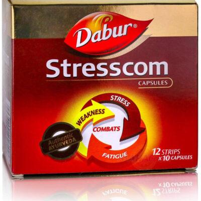 Стресском, мощный антистрессовый аюрведический препарат, 120 кап, производитель Дабур; Stresscom, 120 caps, Dabur (Copy)