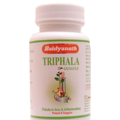 Трифала Гуггул, Triphala Guggulu, 80 tabs, Baidyanath