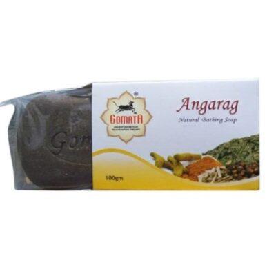 Аюрведическое мыло Ангараг, 100 г, производитель Гомата; Angarag Natural Bathing Soap, 100 g, Gomata