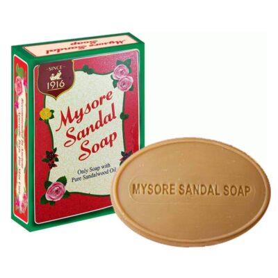 Аюрведическое сандаловое мыло Майсор, 75 г, производитель Карнатака Сопс; Mysore Sandal Soap, 75 g, Karnataka Soaps