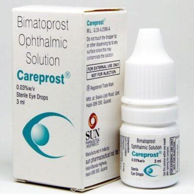 Карепрост, средство для роста ресниц, 3 мл, производитель Сан Фарма; Cаreprost, 3 ml, Sun Pharma