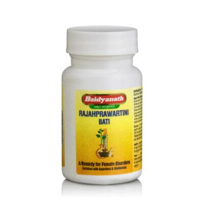 Раджаправартини Вати, для лечения женской репродуктивной системы, 80 таб, производитель Байдьянатх; Rajahprawartini Bati. 80 tabs, Baidyanath