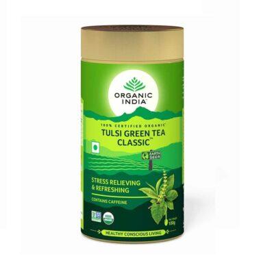 Зеленый чай с Тулси: для снятия стресса и усталости (100 г), Tulsi Green Tea Classic, произв. Organic India
