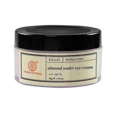 Крем от тёмных кругов под глазами с Миндальным маслом (50 г), Almond Under Eye Cream, произв. Khadi Natural