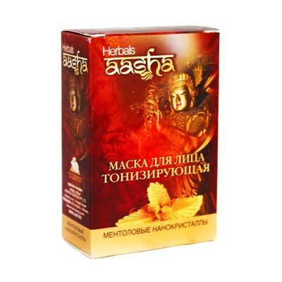 Маска для лица тонизирующая 5 пак. по 10 г, Aasha Herbals