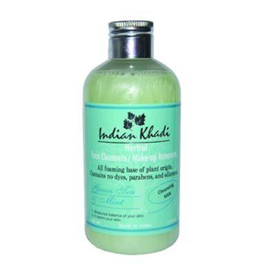 """Молочко для очищения кожи лица """"Мята и зелёный чай"""" 200 мл, Indian Khadi"""