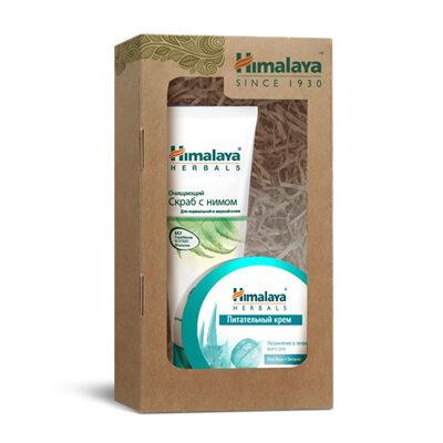 Набор косметический № 123 (очищающий скраб с нимом и питательный крем 50 мл), Himalaya Herbals