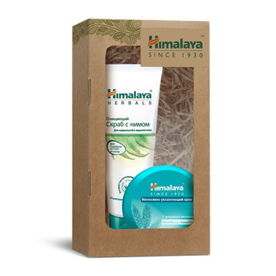 Набор косметический №124 (очищающий скраб и интенсивно увлажняющий крем 50 мл), Himalaya Herbals