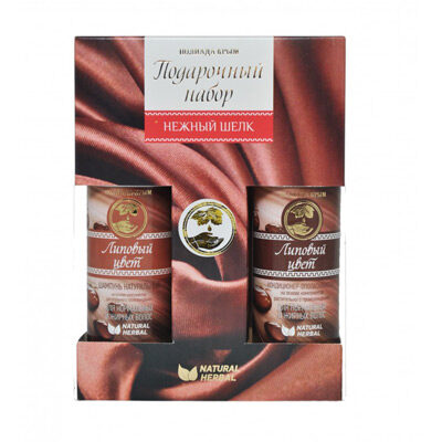 Набор подарочный Нежный шёлк (шампунь 100 мл и гель для душа 100 мл), Полиада-Крым