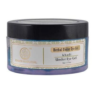 Натуральный гель от тёмных кругов под глазами (50 г), Herbal Under Eye Gel, произв. Khadi Natural