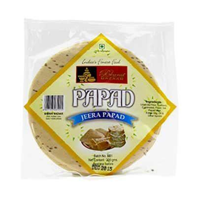 Папады с кумином (Jeera Papad) 200 г, Bharat Bazaar