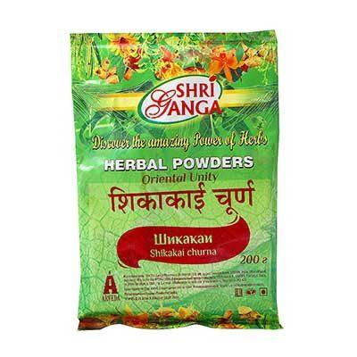 """Порошок """"Шикакай Чурна"""" (Shikakai Churna) 200 г, Shri Ganga"""