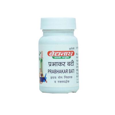 Прабхакар Бати- для здоровья сердечно-сосудистой системы (80 таб), Prabhakar Bati, произв. Baidyanath