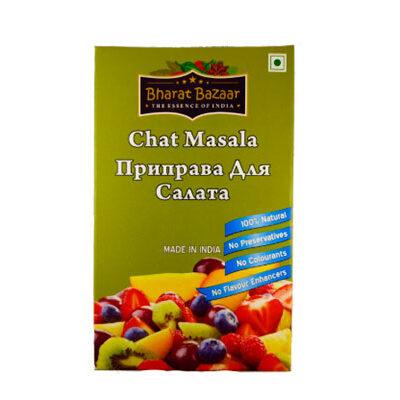 "Приправа для салата ""Салат масала"" в коробке (Chat Masala) 100 г, Bharat Bazaar"