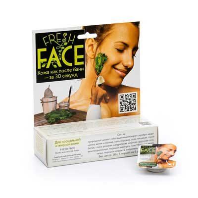 """Скраб """"Fresh Face"""" для нормальной и жирной кожи 18 г, БиоБьюти"""