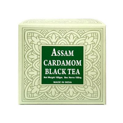 Чай индийский чёрный с кардамоном Assam Cardamom Black Tea 100 г, Bharat Bazaar