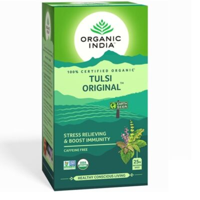 Чай с Тулси: для повышения иммунитета и снятия стресса (25 пак, 1.74 г), Tulsi Original, произв. Organic India