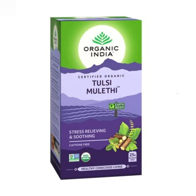 Чай с Тулси и Лакрицей: для снятия стресса (25 пак, 1.8 г), Tulsi Mulethi Tea, произв. Organic India