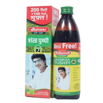 Шанкха Пушпи: сироп для улучшения памяти (300 мл), Shankha Pushpi, произв. Baidyanath