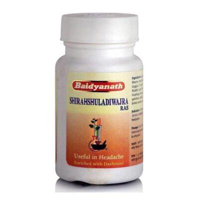 Ширахшуладиваджра Рас: от головной боли (40 таб), Shirahshuladiwajra Ras, произв. Baidyanath