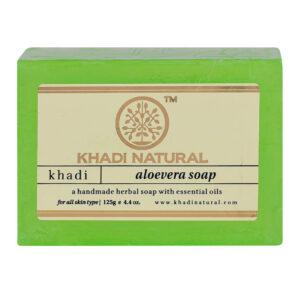 ALOEVERA Handmade Herbal Soap With Essential Oils, Khadi Natural (АЛОЭ (алое) ВЕРА Мыло ручной работы с эфирными маслами, Кхади), 125 г.