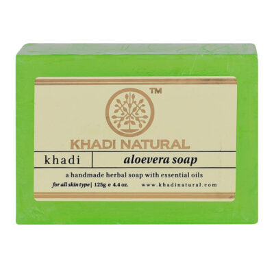 ALOEVERA Handmade Herbal Soap With Essential Oils, Khadi Natural