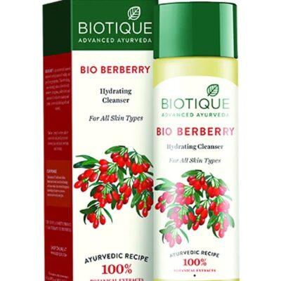 BIO BERBERRY Hydrating Cleanser, Biotique (БАРБАРИС Увлажняющий тоник лосьон для лица, для всех типов кожи, Биотик), 120 мл.