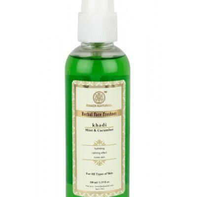 Herbal Face Freshener MINT & CUCUMBER, Khadi Natural (Освежитель для лица МЯТА И ОГУРЕЦ), спрей, 100 мл.