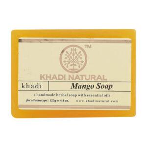 MANGO Handmade Herbal Soap With Essential Oils, Khadi Natural (МАНГО Мыло ручной работы с эфирными маслами, Кхади), 125 г.
