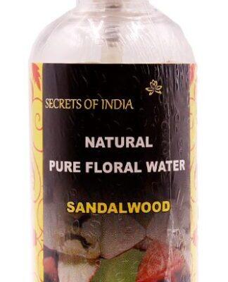 Natural Pure Floral Water SANDALWOOD, Secrets of India (ГИДРОЛАТ САНДАЛОВОГО ДЕРЕВА Натуральная цветочная вода для ухода за кожей, Секреты Индии), 100 мл.
