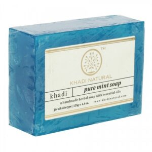 "PURE MINT Soap Khadi (Мыло ручной работы ""Мята"" Кхади), 125 г."