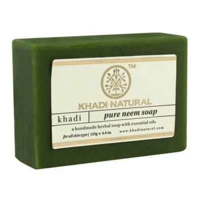 """PURE NEEM Soap Khadi (Мыло ручной работы """"Ним"""" Кхади), 125 г."""