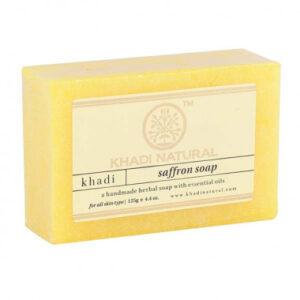 SAFFRON Handmade Herbal Soap With Essential Oils, Khadi Natural (ШАФРАН Мыло ручной работы с эфирными маслами, Кхади), 125 г.
