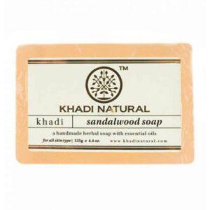 """SANDALWOOD Soap Khadi (Мыло ручной работы """"Сандаловое Дерево"""" Кхади), 125 г."""