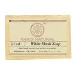 WHITE MUSK Handmade Herbal Soap With Essential Oils, Khadi Natural (БЕЛЫЙ МУСКУС Мыло ручной работы с эфирными маслами, Кхади), 125 г.