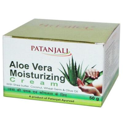 Алое Вера: увлажняющий крем для лица (50 г), Aloe Vera Moisturizing Cream, произв. Patanjali