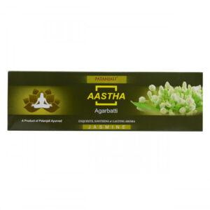 Ароматические палочки Аастха: Жасмин (75 г), Aastha Agarbatti Jasmine, произв. Patanjali