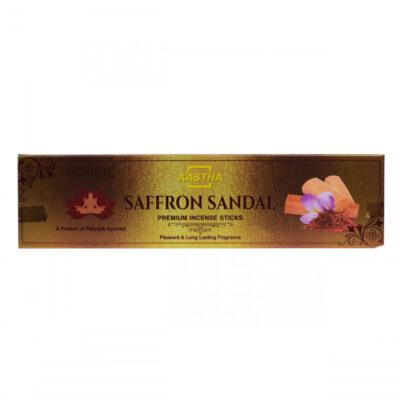Ароматические палочки Аастха: Шафран, Сандал (30 г), Incense Sticks Aastha: Saf
