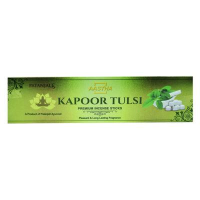 Ароматические палочки: Kapoor Tulsi (20 шт), Incense Sticks Kapoor Tulsi, произв. Patanjali